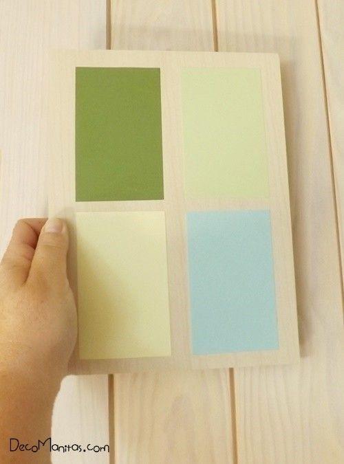 2 manualidades para decorar paredes con tablas de madera 5