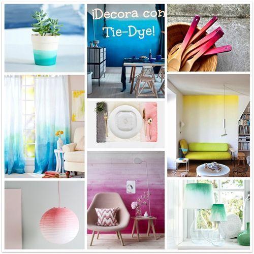 como aplicar la tecnica tie-dye para decorar tu casa 1