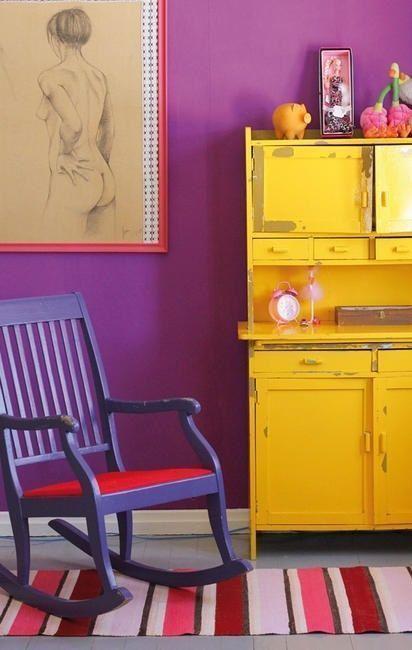 20 ideas para pintar muebles de madera antiguos a todo color 1