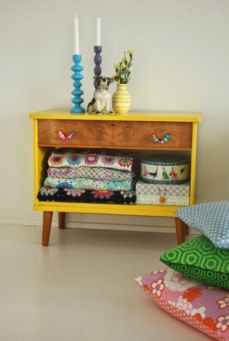 Pintar muebles de madera antiguos fotos y tutorial - Pintar muebles viejos ...