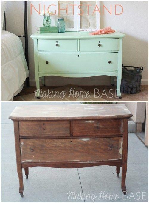 20 ideas para pintar muebles de madera antiguos a todo - Muebles antiguos de madera ...