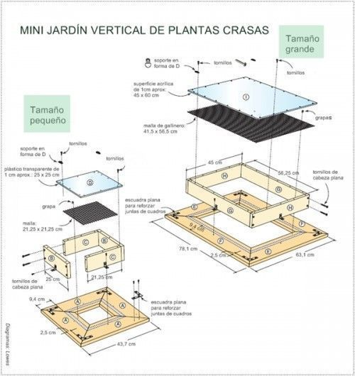 decorar terrazas pequeas mini jardn vertical de plantas crasas