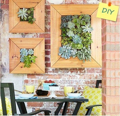 Decorar terrazas peque as mini jard n vertical de plantas - Decorar terrazas pequenas ...
