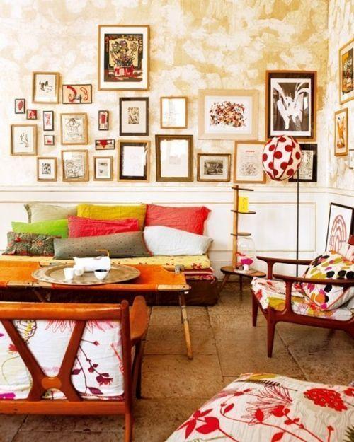 Ideas para pintar una casa paredes vintage con efecto - Ideas para pintar casa ...
