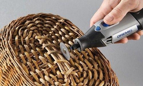 L mparas recicladas con cestos para decoraci n de - Como hacer lamparas rusticas ...