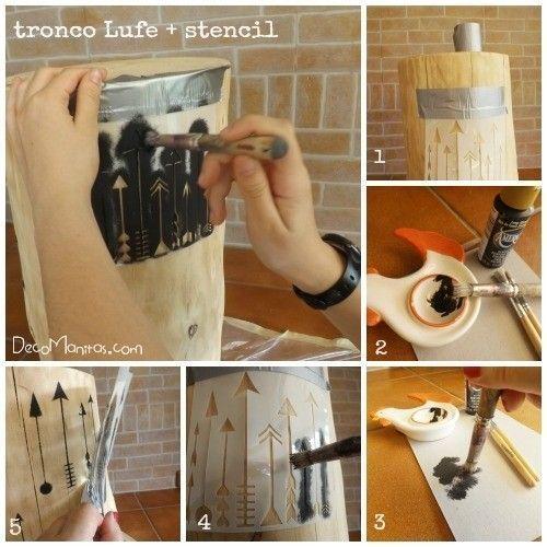 Tendencia naturalista personalizar muebles en crudo con stencil 6