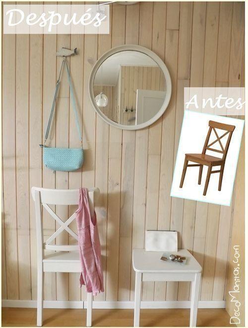 reciclar muebles con otro uso es el objetivo de legiones de crafters y amantes del bricolajeu por eso el reciclaje creativo de una vieja silla que ha