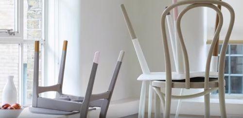 DIY efecto dip pintar muebles con las patas sumergidas... 4
