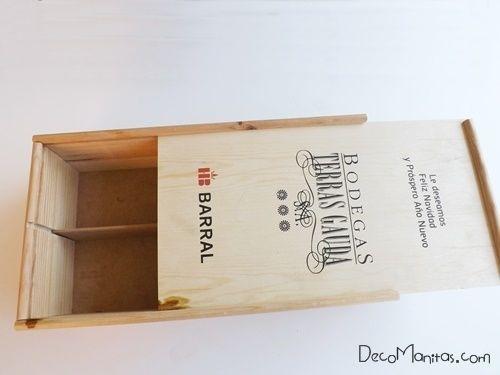 Reciclar cajas de madera de vino para organizar collares y pendientes 2