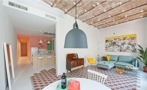 Casas con encanto reforma fuera tabiques de un piso en Barcelona 7