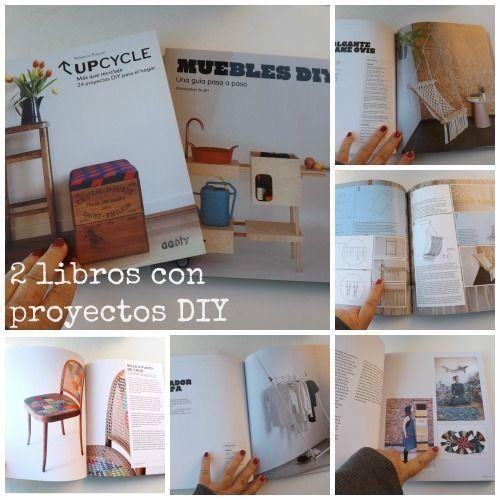 Ideas para reciclar y proyectos de decoración DIY en 2 geniales libros 1