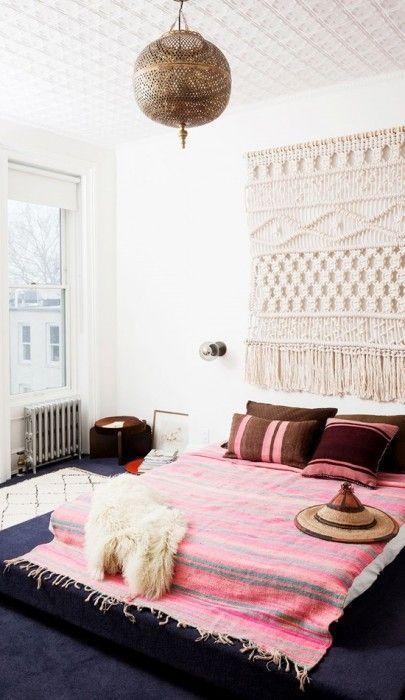 Los 25 dormitorios de estilo boho chic más bellos de Pinterest 11