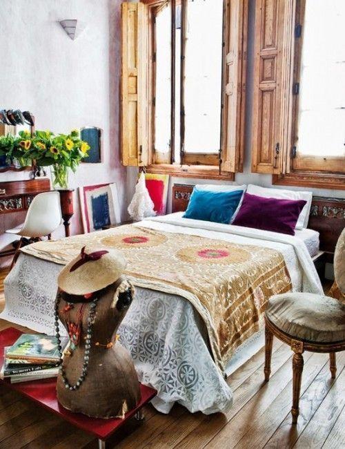 Los 25 dormitorios de estilo boho chic más bellos de Pinterest 12