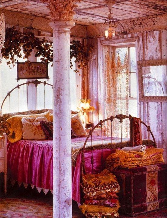 Los 25 dormitorios de estilo boho chic más bellos de Pinterest 7