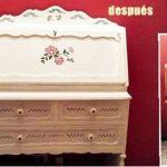 Pintar muebles y darles nueva vida: ¡mira esta idea con blanco y stencil!