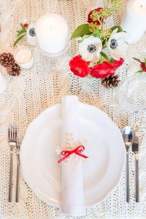 15 Ideas de decoración eco-chic para mesas de Navidad 11