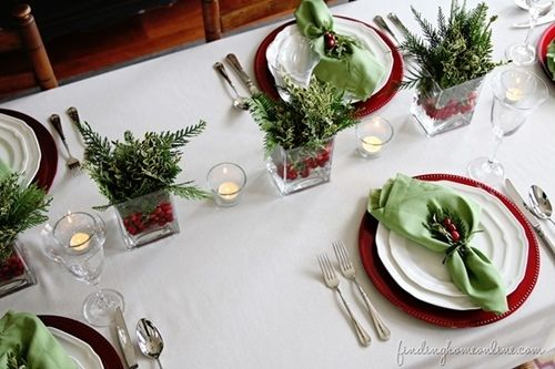 15 Ideas de decoración eco-chic para mesas de Navidad 14