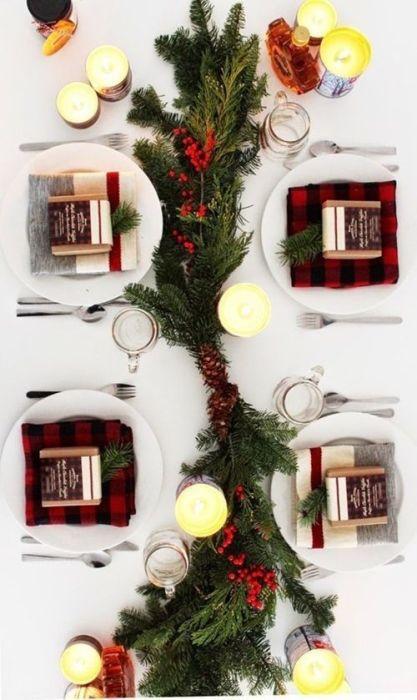 15 Ideas de decoración eco-chic para mesas de Navidad 3