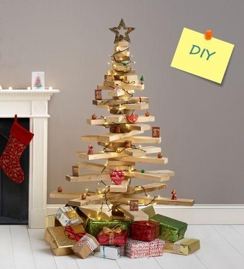 DIY decoracin rbol de Navidad original con listones de