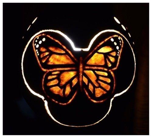 Artesanía con calabazas lámparas originales llenas de misterio 11