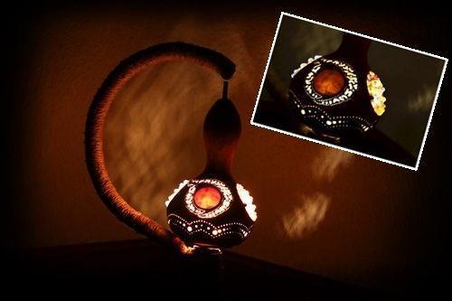 Artesanía con calabazas lámparas originales llenas de misterio 7