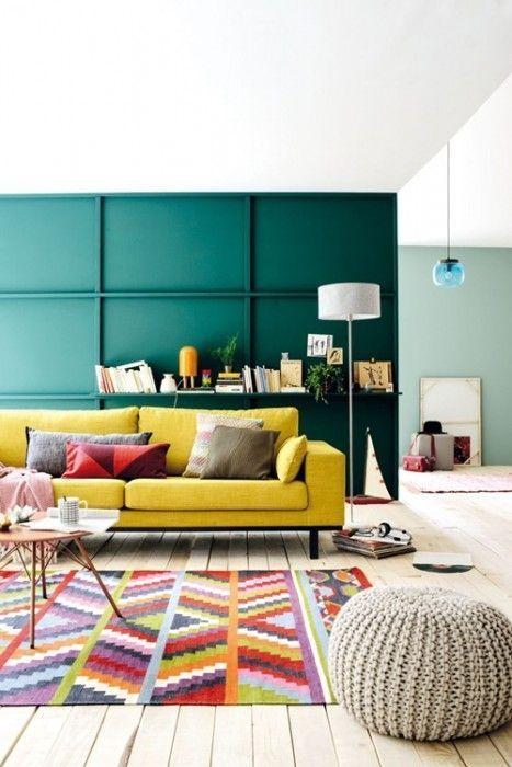 Colores para paredes intensos y pintar la casa con drama - Imprimacion para paredes ...
