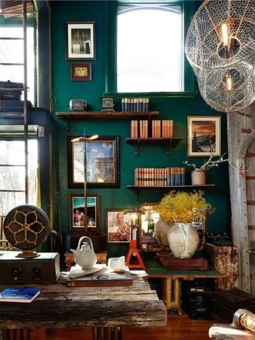 Colores para paredes intensos, y pintar la casa con drama... 1