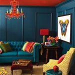 Colores para paredes intensos o ser audaz y pintar la casa con drama15