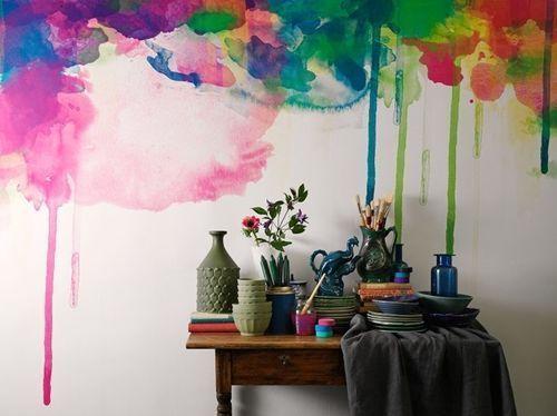 Pintar paredes efecto acuarela pizarra 2
