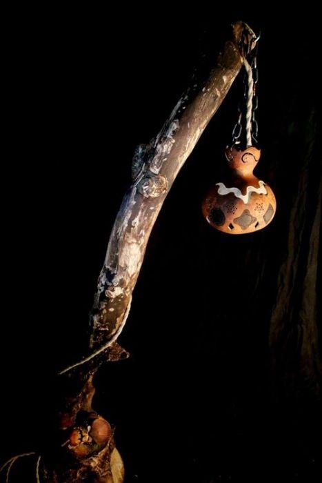 Artesanía con calabazas lámparas originales llenas de misterio 5