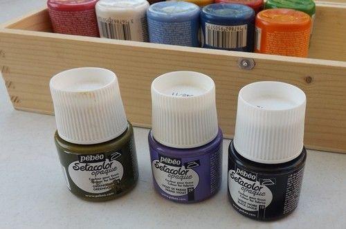 Pintura en tela estampar cortinas con sellos DIY 3