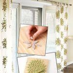 Pintura en tela: estampar cortinas con sellos DIY