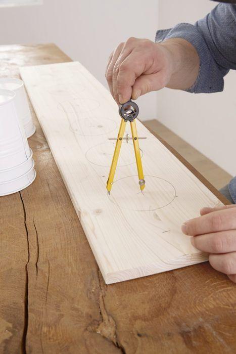 DIY decoracion cómo hacer baldas de madera para plantas 4
