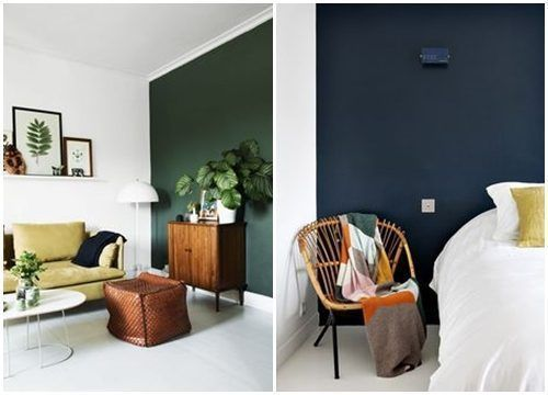 Colores para paredes c mo pintar un apartamento moderno for Pintura azul para interiores