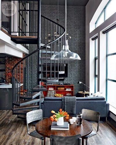 escaleras de caracol para aligerar los espacios en las viviendas 5