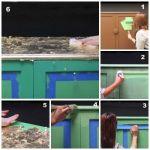 Decora tus muebles antiguos con plantillas para pintar paredes 4