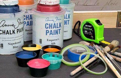 Decora tus muebles antiguos con plantillas para pintar paredes 8