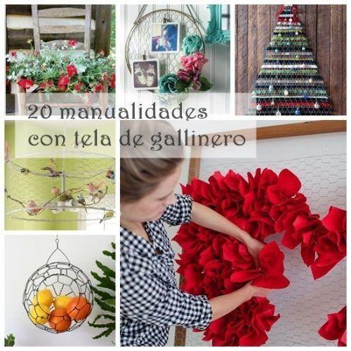 20 manualidades f ciles con malla de gallinero para decoraci n vintage decomanitas - Manualidades de decoracion faciles ...