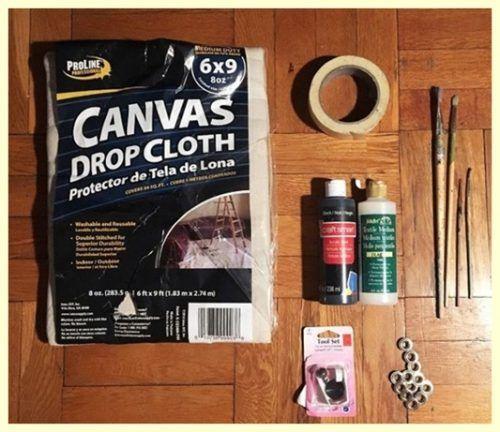 hacer-cortinas-y-pintarlas-con-dibujos-geometricos-facil-8
