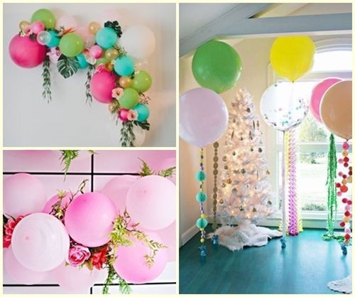 Las 12 ideas de decoraci n con globos que cambiar n tu for Como hacer decoracion con globos