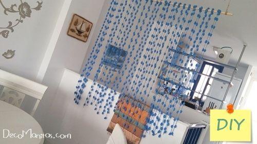 separador de ambientes diy con lanas de pompones - Separadores De Ambientes