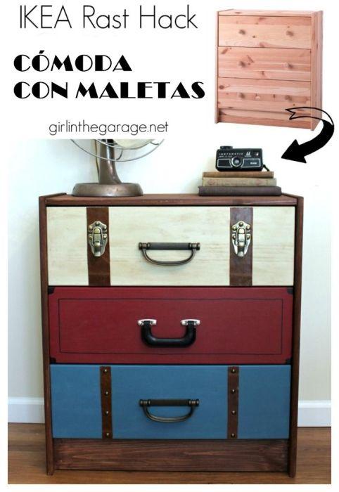 Decoracion vintage muebles con palets y reciclados ideas - Tunear muebles viejos ...