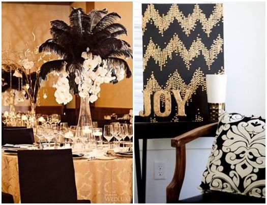 Ideas para decorar con glamour una fiesta en casa for Decoracion para pared negra