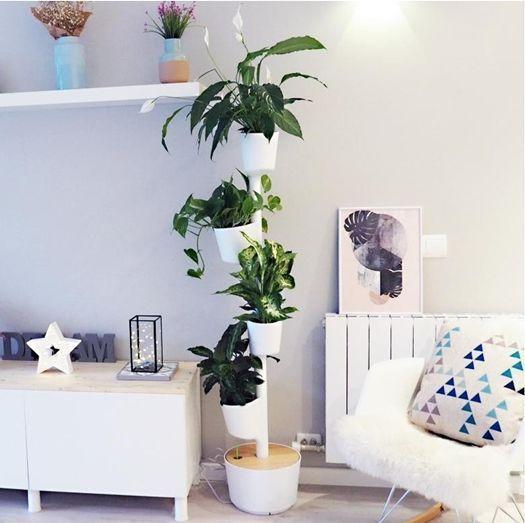 Jard n vertical o colgante en casa con curiosos sistemas - Maceteros madera ikea ...