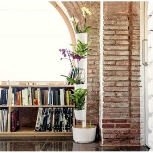 Jard n vertical o colgante en casa con curiosos sistemas for Jardin vertical colgante