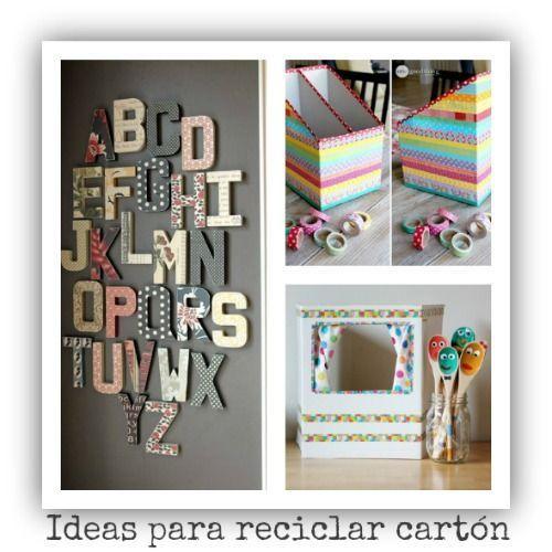 Ideas Para Reciclar Y Decorar Con Carton De Cajas Y Envios