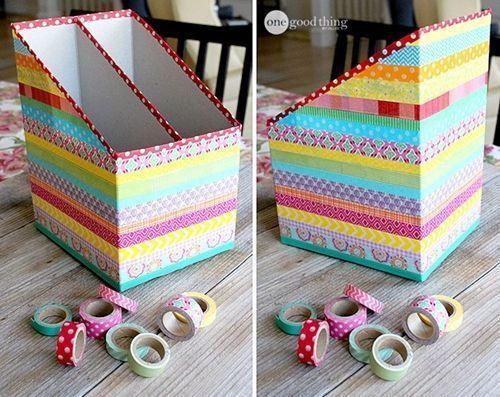 3 ideas para reciclar y decorar con cart n de cajas y - Papeles para decorar ...