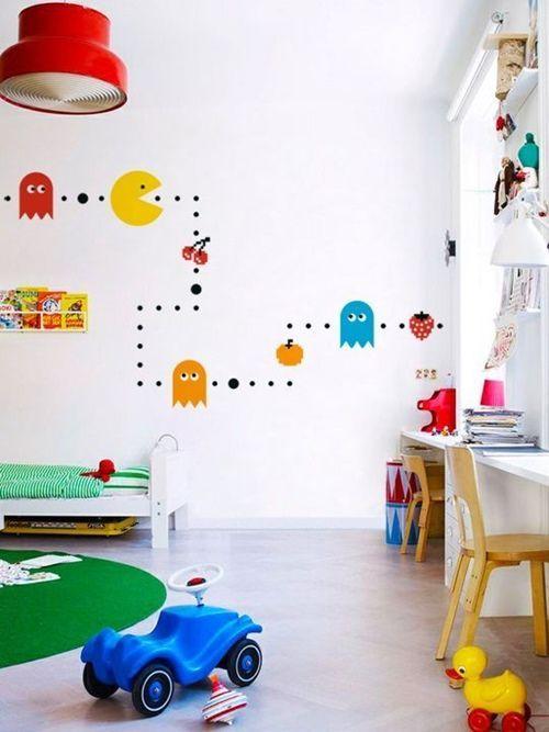 Pegatinas para decorar habitaciones infantiles inspiradas en los juegos Arcade.