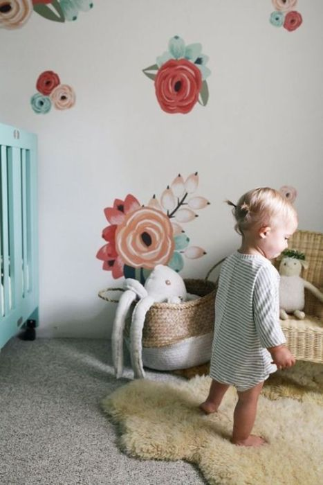 Pegatinas para decorar habitaciones infantiles con aire vintage,.