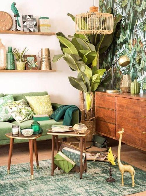 Ideas decoración salón: un rincón con plantas para dar vida al espacio.